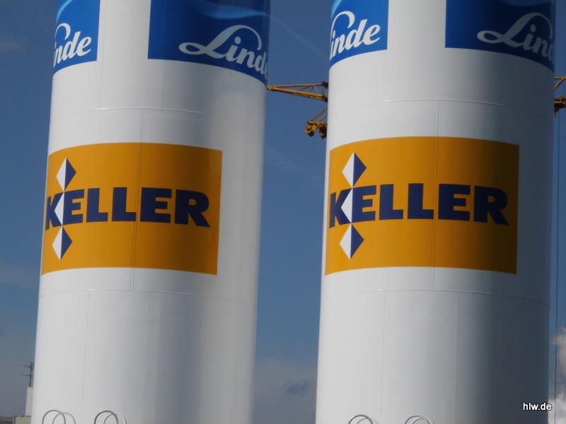 Kühlturm-Beschriftung - Keller  Grundbau