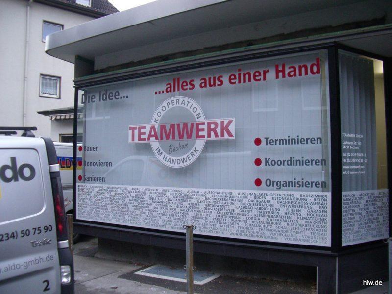 Fenster-Beschriftung - Teamwerk