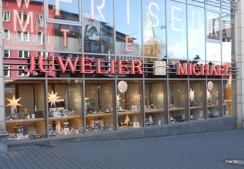 Neon-Schriftzug Juwelier Michael