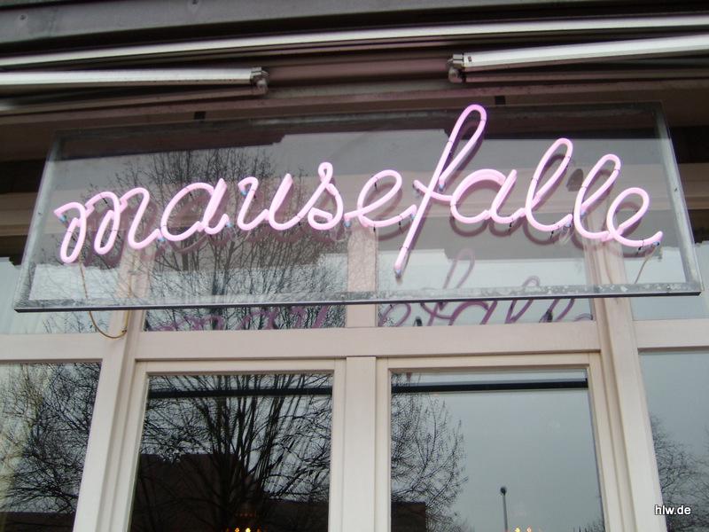 Neon-Schriftzug - Mausefalle