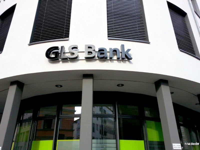 LED-Buchstaben als Rückleuchter - GLS Bank München