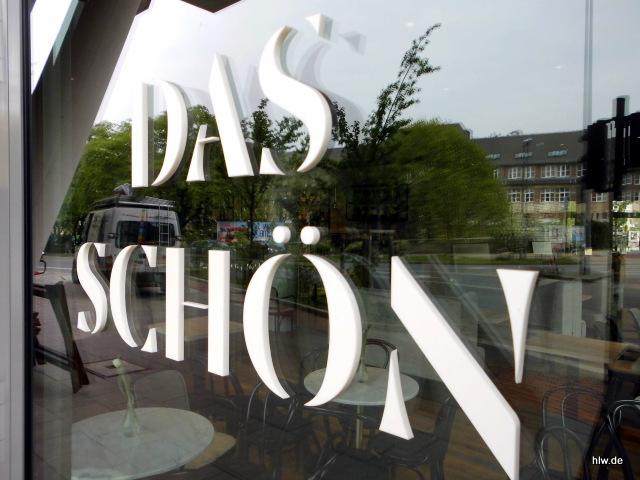 """Fensterbeschriftung mit Einzelbuchstaben """"DAS SCHÖN"""" in Essen"""