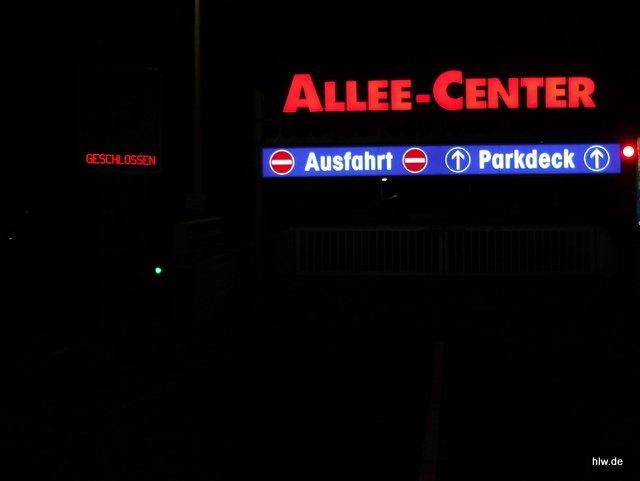 Lichtwerbung Parkdeck - Alleecenter Essen