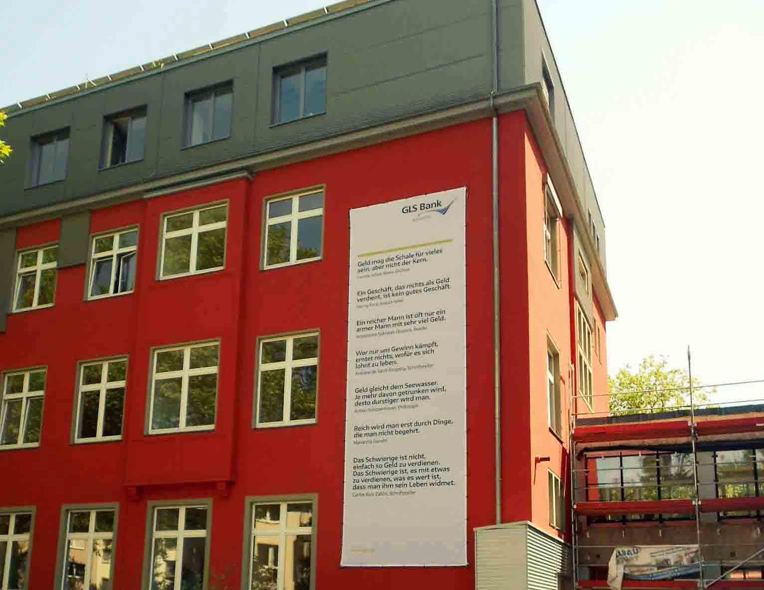 Fassadenbanner - GLS Bank Bochum