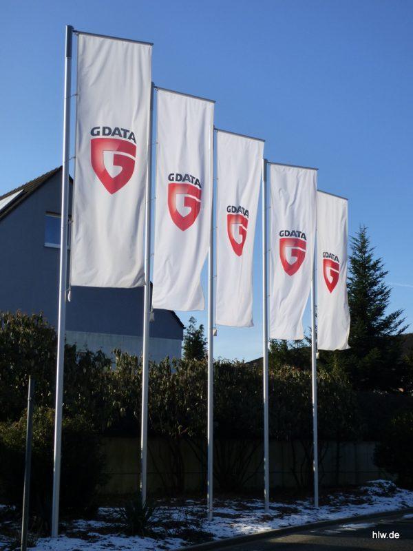 Werbefahnen mit Fahnenmasten, G Data Software AG, Bochum