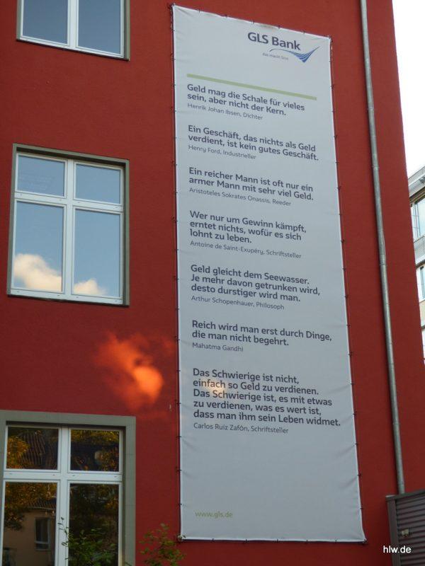 Fassaden-Banner, Plane, GLS Bank, Bochum