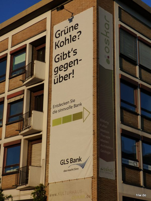 Fassadenbanner, GLS Bank Bochum, Christstraße