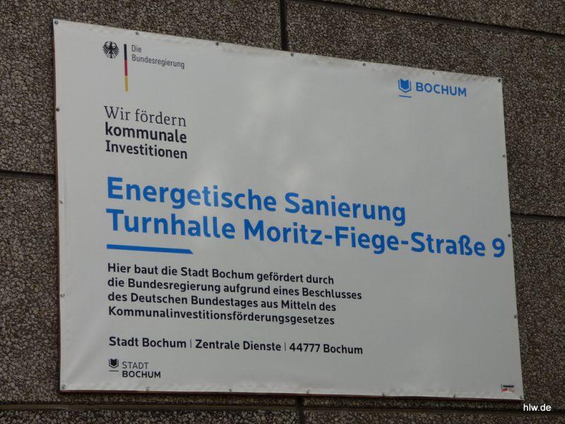 Fassaden-Banner, Stadt Bochum, Turnhalle Moritz-Fiege-Straße,