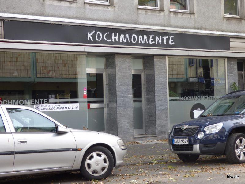 Leuchttransparent mit Beschriftung, Kochmomente, Bochum