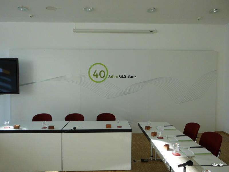Wand-Beschriftung GLS Bank, RuhrCongress, Bochum