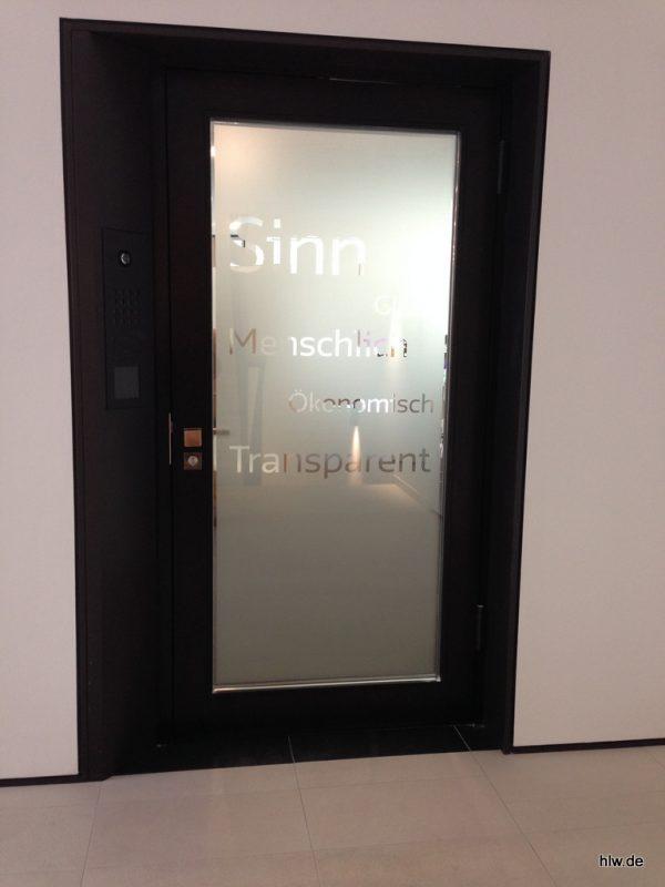 Tür-Beschriftung, GLS Bank Bochum