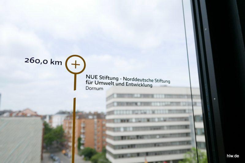 Fenster-Beschriftung, GLS Bank, Hamburg