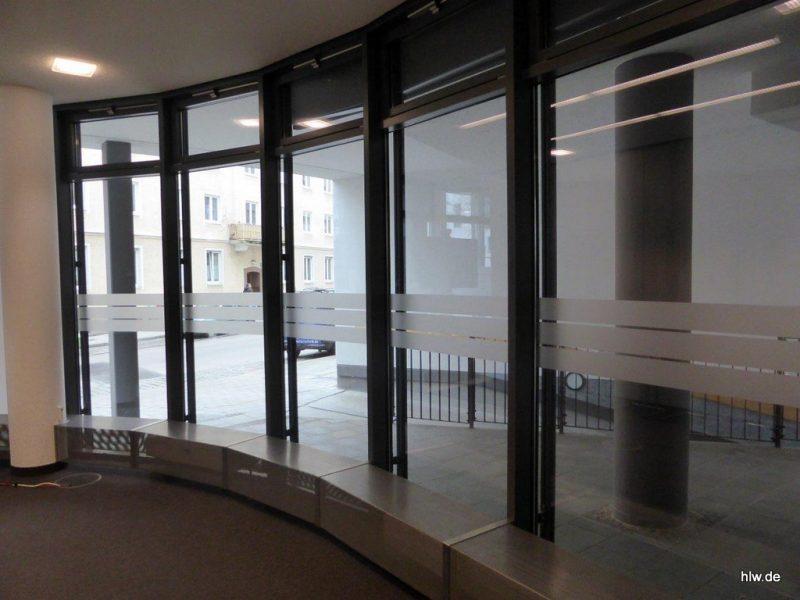 Fenster-Beschriftung, GLS Bank München