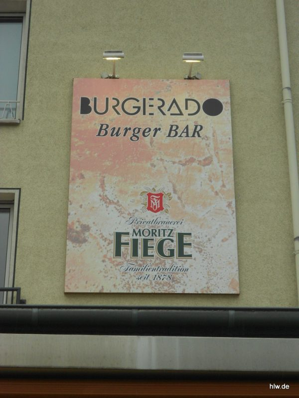 Wandschild mit Digitaldruck - Burgerado Burger-Bar in Bochum