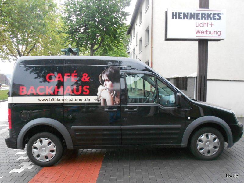 Fahrzeug-Beschriftung mit Digitaldruck, Cafè, Backhaus, in Ehrenfeld
