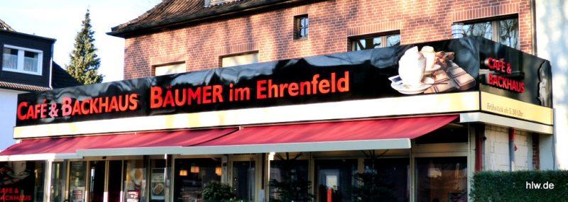 LED-Buchstaben mit Grundplatte, Bochum, Café, Ehrenfeld, Backhaus
