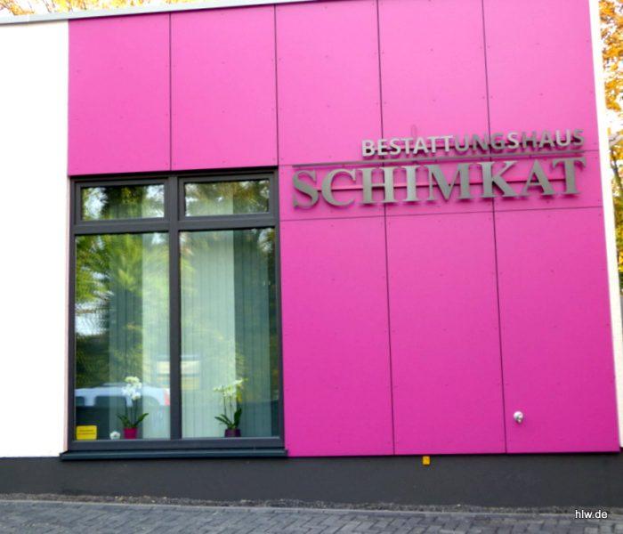 LED-Buchstaben als Rückleuchter, Bochum Bestattungen
